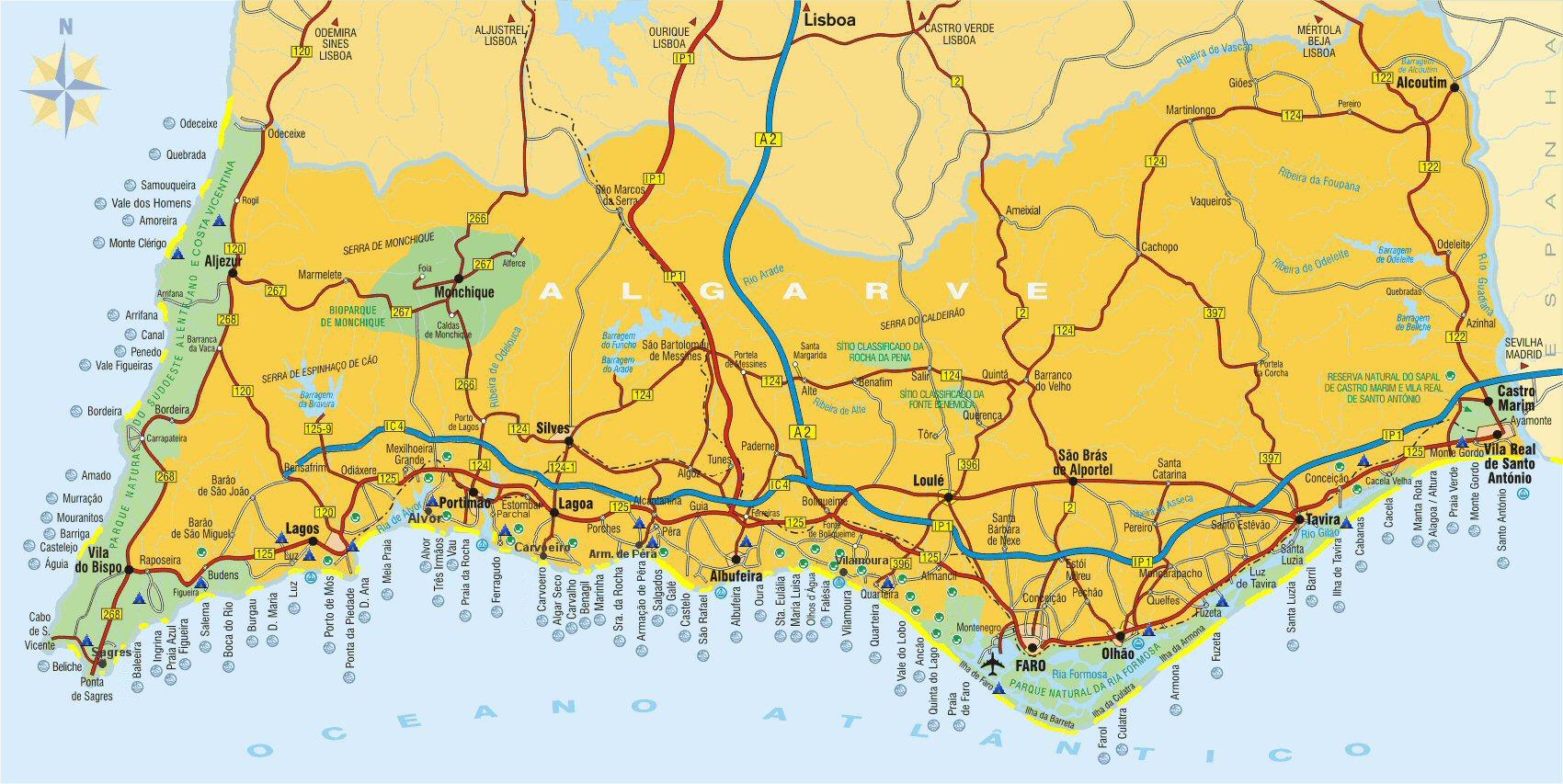 Algarve Beaches Portugal LuzInfocom - Portugal map sagres